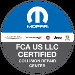 FCA US LLC Certified Collision Repair Center logo