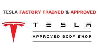 Tesla Factory Trained & Approved Body Shop Logo