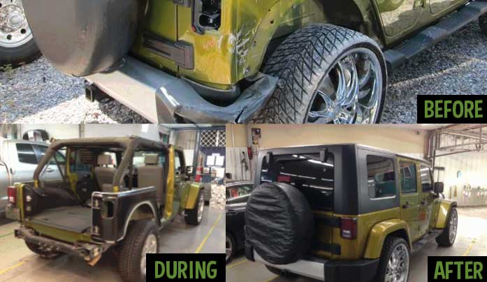 Frank's Accurate Body Shop is a Certified Jeep Collision Center