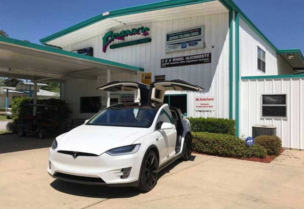 Tesla at Frank's Accurate Body Shop - Tesla Certified